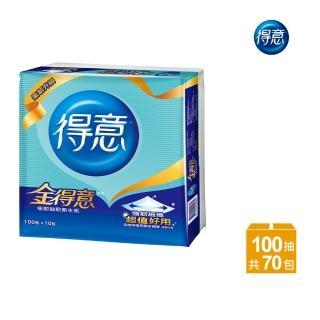 【金得意】極韌連續抽取式花紋衛生紙100抽*10包*7袋-Y15