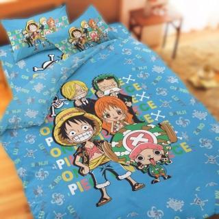 【享夢城堡】航海王 友誼之光系列(雙人純棉四件式床包薄被套組)