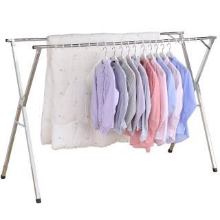 【家可】雙杆不鏽鋼防風伸縮曬衣架1.5米(附贈防風扣)