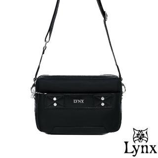【Lynx】山貓紳士極簡風格2WAY真皮手拿側背包(3色)