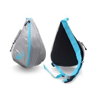 【ASICS】LITE-SHOW 大肩背包-自行車 側背包 亞瑟士(銀水藍)