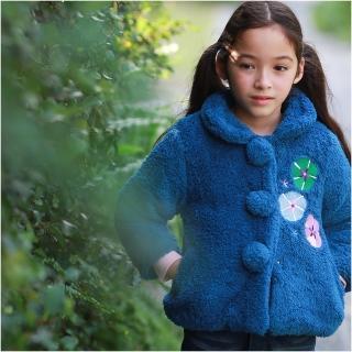 【baby童衣】氣質花朵刺繡厚棉保暖外套 50426(共1色)
