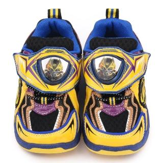 【童鞋城堡】變形金剛 中大童 LED電燈透氣運動鞋(TF5187-黃藍)