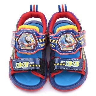 【童鞋城堡】湯瑪士 中童 LED電燈涼鞋(TH43028-藍)