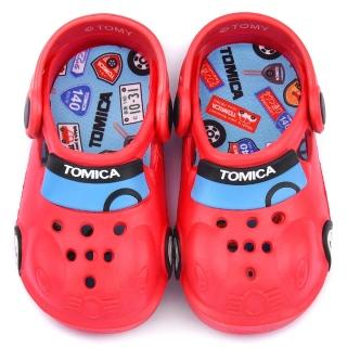【童鞋城堡】Tomica多美汽車 中童 帥氣車身造型花園鞋(TM0871-紅)