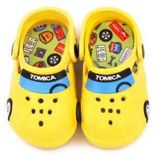 【童鞋城堡】Tomica多美汽車 中童 帥氣車身造型花園鞋(TM0871-黃)