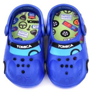 【童鞋城堡】Tomica多美汽車 中童 帥氣車身造型花園鞋(TM0871-藍)