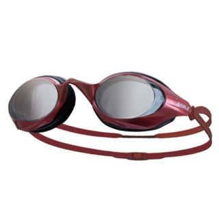 【SABLE】黑貂 競速型塑剛玻璃鏡片泳鏡-清晰防霧 游泳(紅)