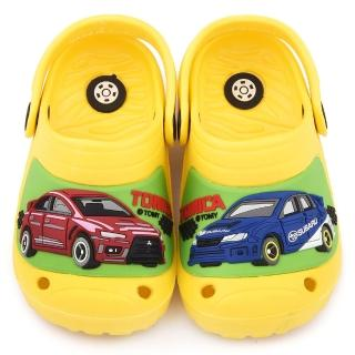 【童鞋城堡】Tomica多美汽車 中童 不對稱造型輕量花園鞋(TM0886-黃)