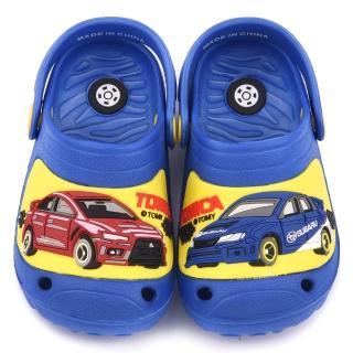 【童鞋城堡】Tomica多美汽車 中童 不對稱造型輕量花園鞋(TM0886-藍)