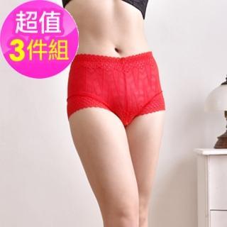 【魔莉莎】透明蕾絲花透氣內褲三件組(2215)