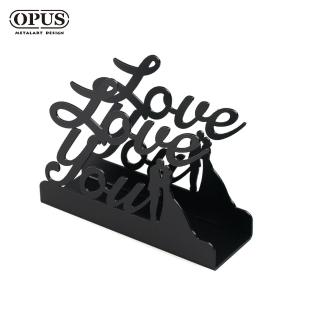 【OPUS東齊金工】歐式鐵藝信件架/收納架/展示架/文具擺飾(lelo04 愛情)