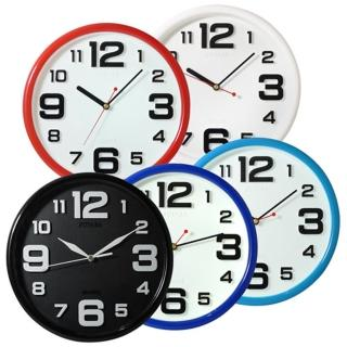 【時尚】立體凸字靜音掛鐘-0723(五色)