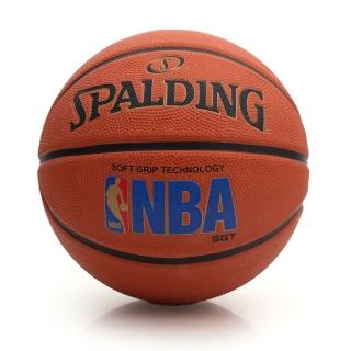 【SPALDING】SGT 深溝柔軟膠 斯伯丁籃球-NBA 戶外 運動(橘)