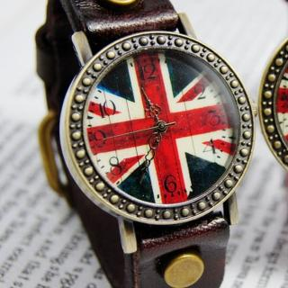 【BOBO】復古英倫風情皮革錶(棕 FFQ-1886)