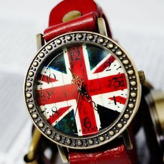 【BOBO】復古英倫風情皮革錶(紅 FFQ-1886)