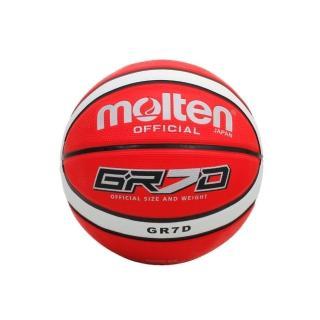 【MOLTEN】籃球-9色-7號球 附球針(紅白)
