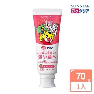 【日本SUNSTAR三詩達】巧虎兒童牙膏1入(草莓70g)