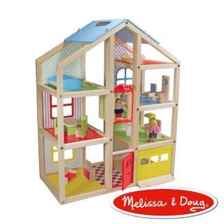 【美國瑪莉莎 Melissa & Doug】高樓娃娃屋