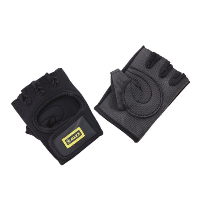 【ALEX】第二代 強化健力手套-L號-健身 重量訓練(依賣場)