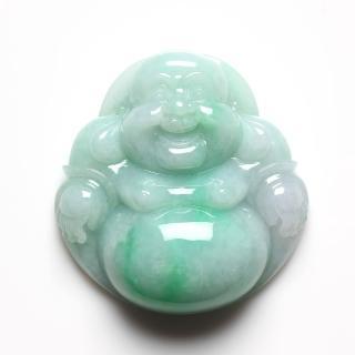 【雅紅珠寶】開心佛天然全滿正陽翠綠翡翠玉項鍊-手把件-擺件三用-大尺寸彌勒佛