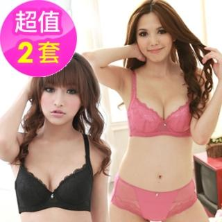 【魔莉莎】性感曲線蕾絲機能包覆內衣2套組(B053)