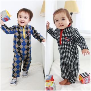 【baby童衣】嬰兒連身衣 細刷毛立領爬服 50694(共2色)
