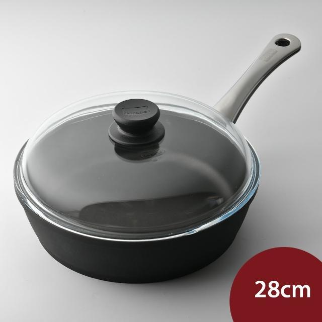 【德國寶迪Berndes】黑鑽不沾鍋+鍋蓋組合 28cm(炒鍋 康寧鍋蓋組合)