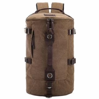 【DF BAGSCHOOL】日系潮流水洗帆布圓筒式後背3用包(共2色)
