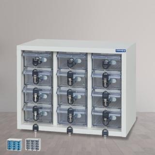 【時尚屋】DF精密零件櫃12格  透明/不透明盒(RU5-DF-MP-12)