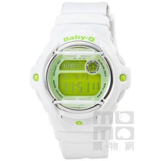 【CASIO】卡西歐Baby-G 繽紛電子錶-白(BG-169R-7C)