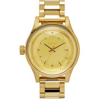 【NIXON】FACET38 閃爍六芒星經典時尚腕錶-金(A409502)