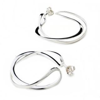【Georg Jensen】Infinity 純銀圈式耳環