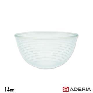 【ADERIA】日本進口陶瓷塗層耐熱玻璃調理碗(14cm)