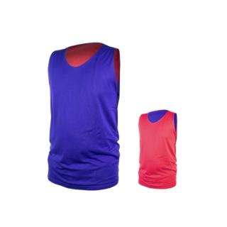 【INSTAR】男女雙面穿籃球背心-台灣製 運動背心(寶藍紅)