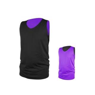 【INSTAR】男女雙面穿籃球背心-台灣製 運動背心(黑紫)