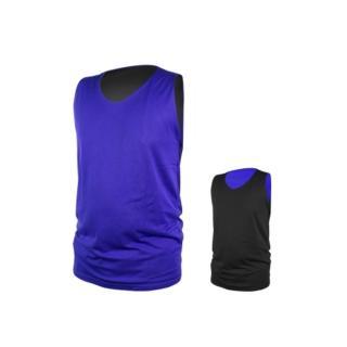 【INSTAR】男女雙面穿籃球背心-台灣製 運動背心(寶藍黑)