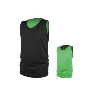 【INSTAR】男女雙面穿籃球背心-台灣製 運動背心(黑綠)