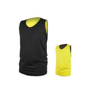 【INSTAR】男女雙面穿籃球背心-台灣製 運動背心(黑黃)