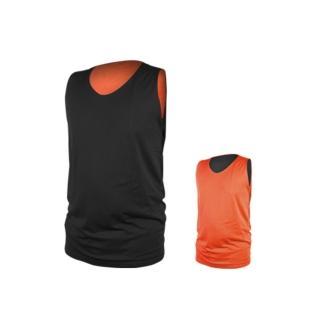 【INSTAR】男女雙面穿籃球背心-台灣製 運動背心(黑橘)