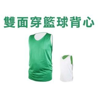 【INSTAR】男女雙面穿籃球背心-台灣製 運動背心(綠白)