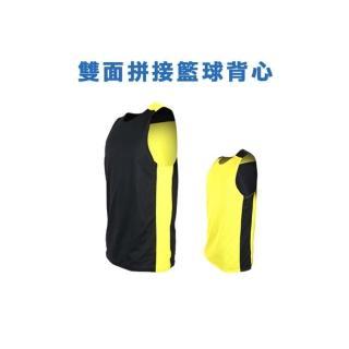 【INSTAR】男女 雙面穿籃球背心-運動背心 台灣製(黑黃)
