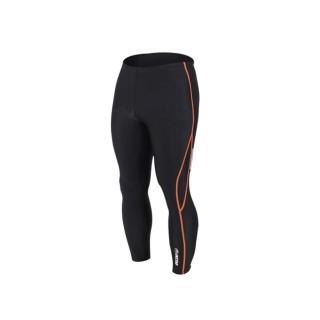 【INSTAR】起點 男女緊身長褲-台灣製 慢跑緊身褲 路跑 籃球內搭褲(黑橘)