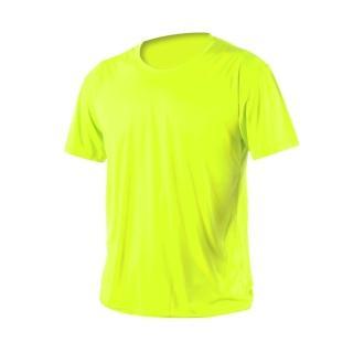 【HODARLA】激膚無感衣 男女涼感短T恤-0秒吸排抗UV輕量吸濕排汗無著感(螢光黃)