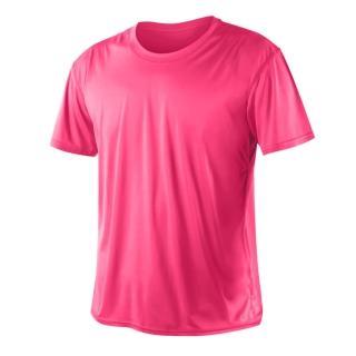 【HODARLA】激膚無感衣 男女涼感短T恤-0秒吸排抗UV輕量吸濕排汗無著感(透明粉紅)