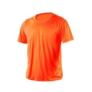 【HODARLA】激膚無感衣 男女涼感短T恤-0秒吸排抗UV輕量吸濕排汗無著感(陽光橘)