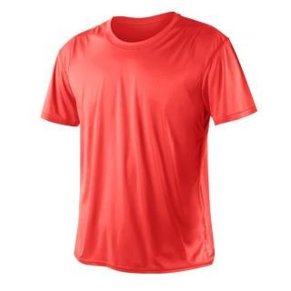 【HODARLA】激膚無感衣 男女涼感短T恤-0秒吸排抗UV輕量吸濕排汗無著感(螢光粉)