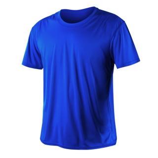 【HODARLA】激膚無感衣 男女涼感短T恤-0秒吸排抗UV輕量吸濕排汗無著感(藍)