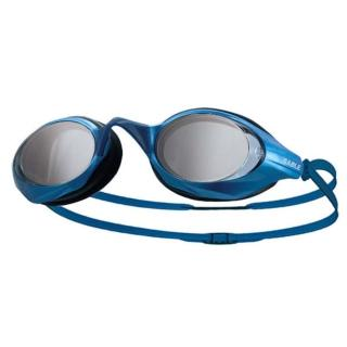 【SABLE】黑貂 競速型塑剛玻璃鏡片泳鏡-清晰防霧 游泳(藍)