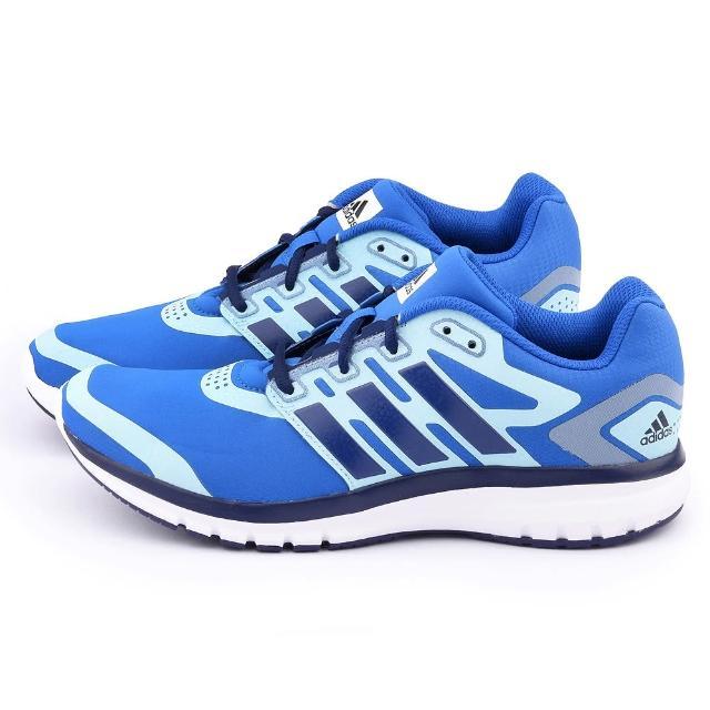 【Adidas】男款 brevard M輕量慢跑鞋(B33545-藍)